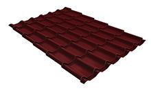 Металлочерепица классик 0,4 PE RAL 3005 красное вино 2250 мм