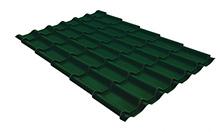 Металлочерепица классик 0,4 PE RAL 6005 зеленый мох 2250 мм