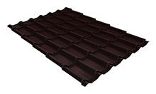 Металлочерепица классик GL 0,4 с покрытием Полиэстер RAL 8017 шоколад 2250 мм